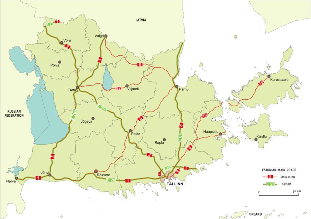 Tagurpidi Eesti kaart